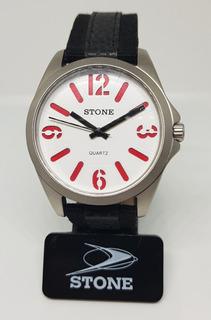 Reloj Stone Hombre Analogico Malla Cuero Modelo St0969