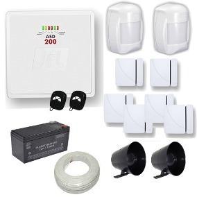 Kit De Alarme Usada Com Uma Central Asd 200 Da Jfl Com 2 Zon