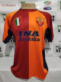 Camisa Roma 2001-02 Batistuta 20 Champions League