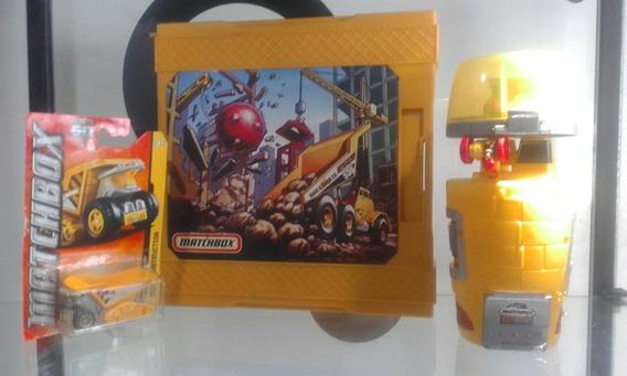 Combo 2 Pistas Matchbox Y Carritos Construccion Escala 1/64