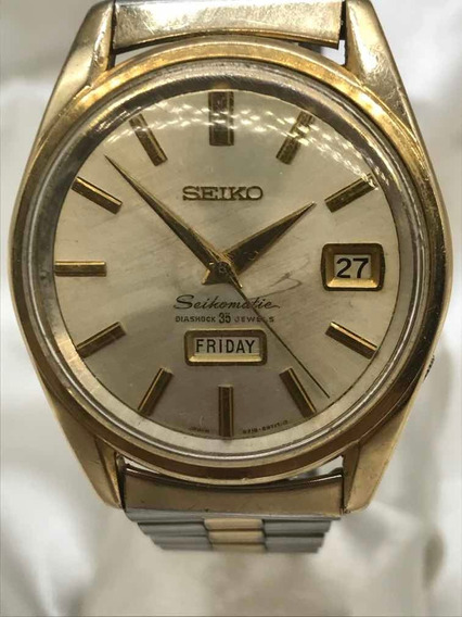Relógio King Seikomatic Diashock De 35 Rubis Relogiodovovô.