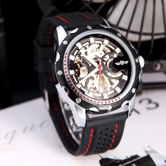 Relógio Masculino Winner Skeleton Automático Oferta Barato