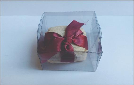 100 Caixas Acetato 7x7x4 Para Doces E Artesanatos Em Geral