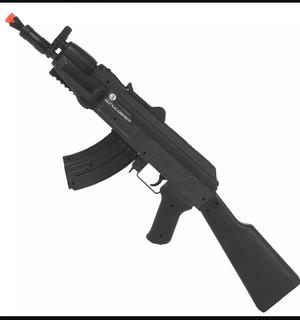 Rifle Airsoft Spring Ak47 6mm Cybergun + Munição P/ Teste