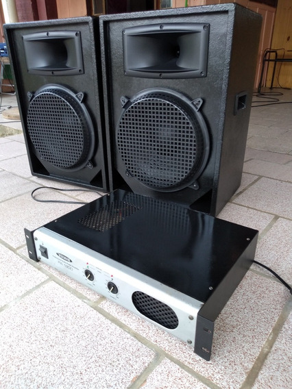 Som Pró 2 Caixas+amplificador(só Retirada No Local Leia!!!!)