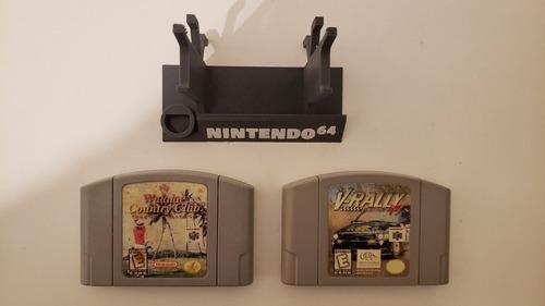 Imagen 1 de 10 de 2 Juegos Nintendo 64 Waialae Golf V-rally + Soporte Joystick