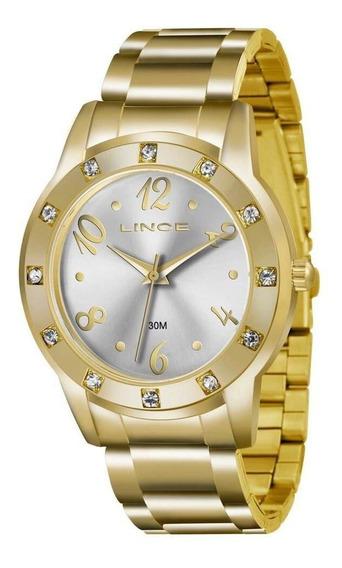 Relógio Lince Dourado Feminino Lrgj047l S2kx