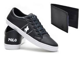 Tênis Casual Masculino Original Polo Plus+ Carteira Promoção