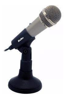 Microfono Pc Reforzado Plug 3.5mm Con Pedestal Kolke Kpi-049