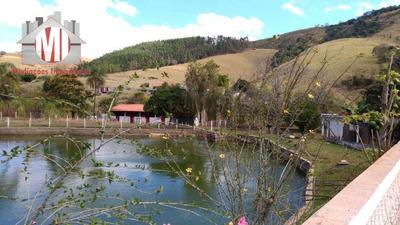 Chácara Com Lago, 02 Dormitórios À Venda, 6500 M² Por R$ 400.000 - Rural - Socorro/sp - Ch0429