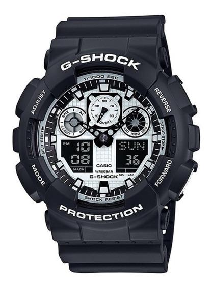 Relogio Casio G-shock Ga-100bw-1adr Original E Nota Fiscal