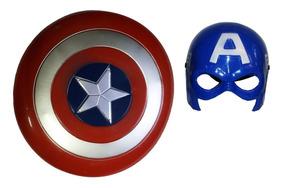 Mascara E Escudo Capitão América Brinquedo Pronta Entrega