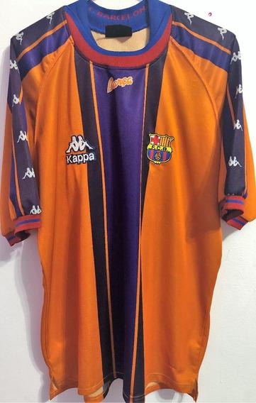 Camisa Barcelona 1997/98 Autografada Giovanni