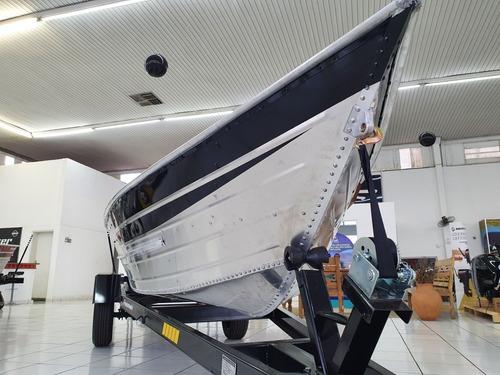 Imagem 1 de 15 de Barco Pesca Alumínio 6 Metros Borda Alta Carreta Rodoviária