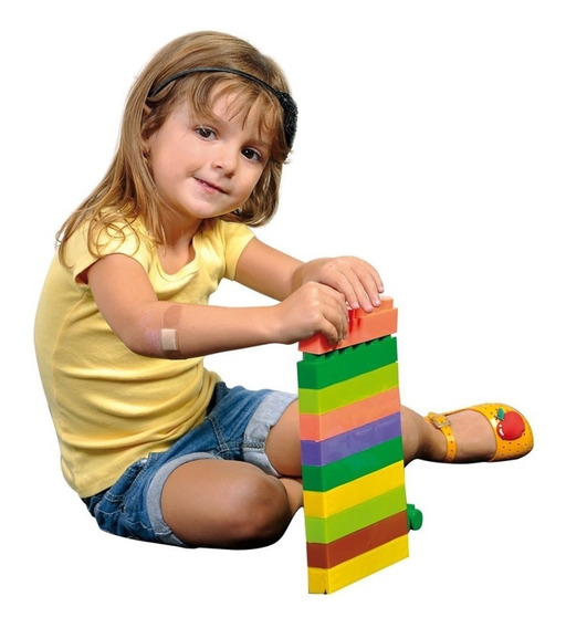 Blocos De Montar Com 180 Peças Brinquedo Educativo Unissex