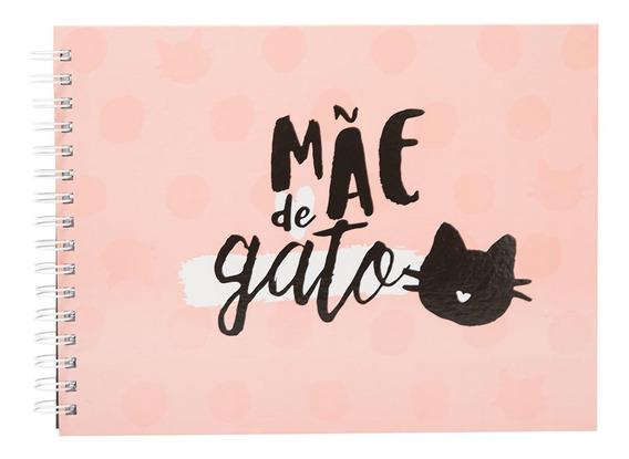 Caderno Scrapbook Álbum Fotografico Mãe De Gato Uatt