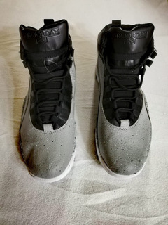 Tenis Jordan Air 10 Retro Negro, Gris, Blanco