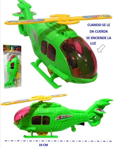 Helicoptero Con Cuerda Y Luz, Juguete