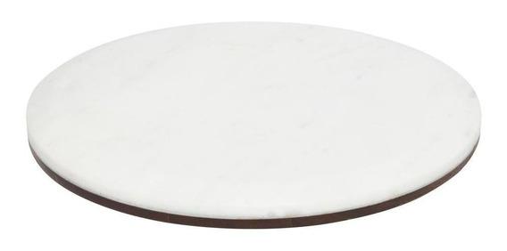 Tábua Multiuso Oxford Mármore Branco E Madeira - 69609