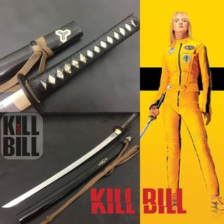 Espada Katana Kill Bill Hattori Hanzo Aço Damasco Afiada