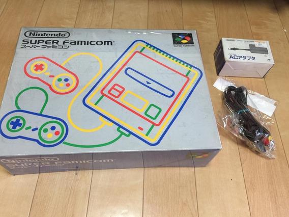 Super Famicom Console Na Caixa +2 Controles Promoçao