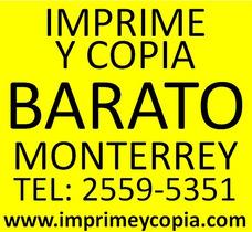 Impresiones Y Copias Baratas Monterrey Www.imprimeycopia.com
