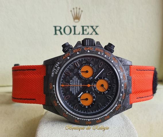 Relógio Modelo Eta - Daytona Diw Orange Carbon - Exclusivo