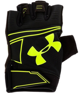 Under Armour Guantes Gym Coolswich Flux Negro Y Neon Half Fi