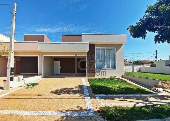 Espetacular Casa Térrea No Condomínio Terras Do Fontanário, Em Paulínia - Ca5556