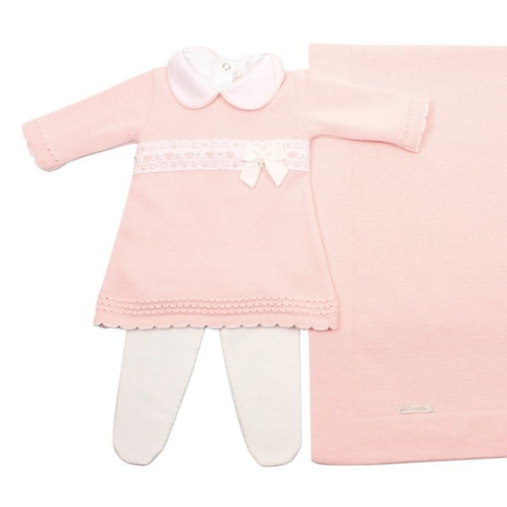 Saída De Maternidade Menina Passafita Rosa Petit Mouton
