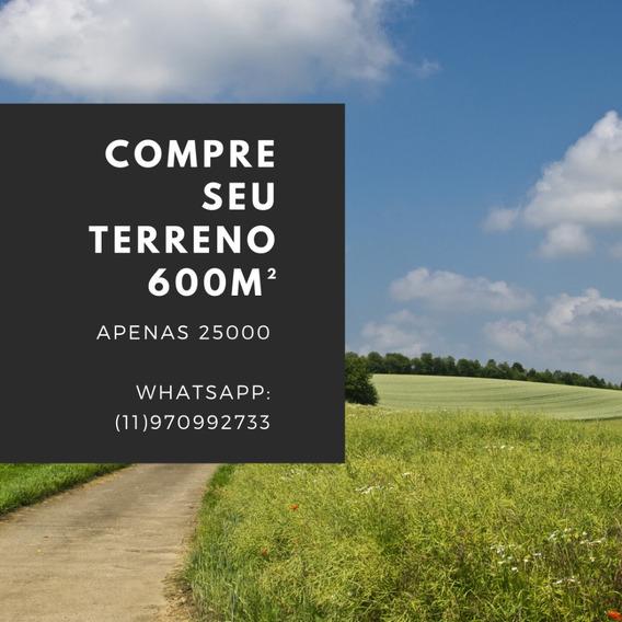 Lotes Plainos De 600m² Em Ibiúna Apenas 25 Mil- Gb