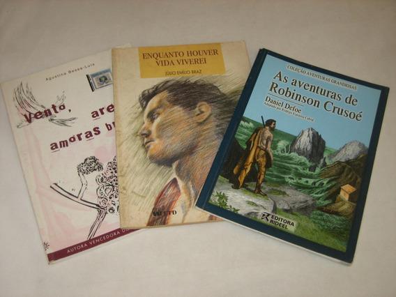 Amoras Bravas/vida/crusoé - Lote C/ 3 Livros - Ler Anúncio