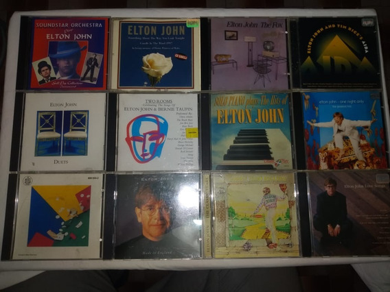 Lote 12 Cds - Elton John - Raro Pop Rock Jazz Internacional