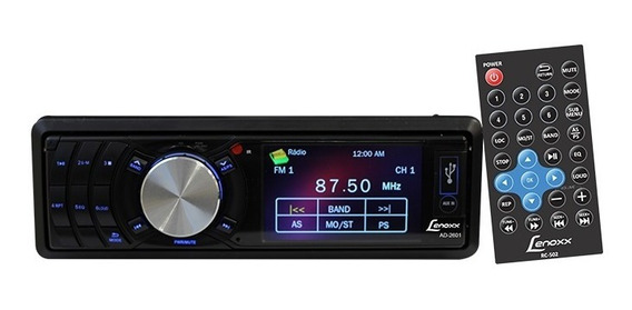 Auto Rádio Fm Micro Sd Usb Mp3 Mp4 Player Lenoxx Tela Lcd 3