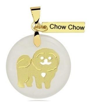 Colar Chow Chow Folheado