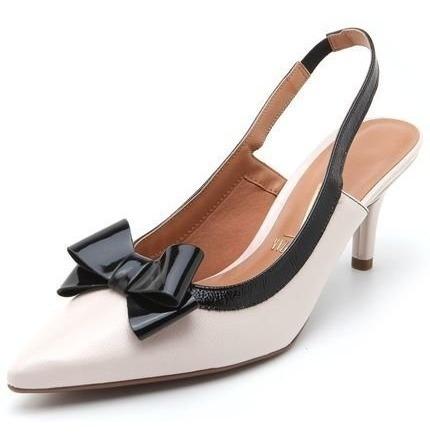 Sapato Feminino Vizzano Scarpin Com Laço Aberto Com Elástico