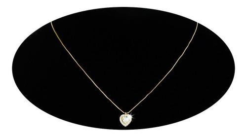 Imagen 1 de 9 de Collar Cadena Dije Oro 18k Regalo Elegante Joyería Dama Mama