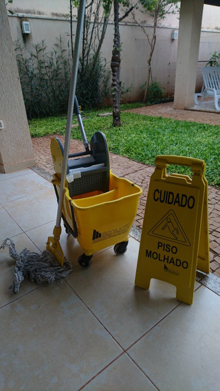 Carrinho Limpeza Balde Placa Mop Liquido Milleniuns