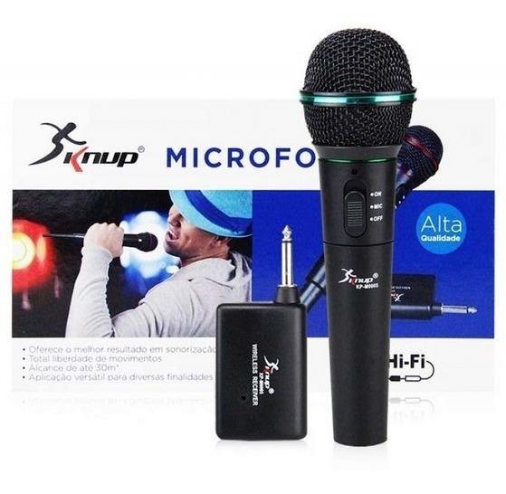 Microfone Sem Fio Wireless Profissional Knup