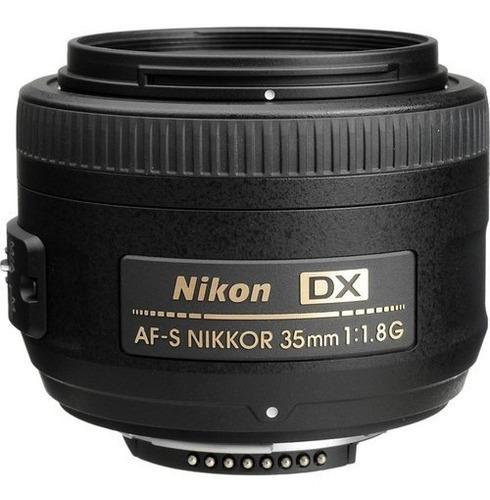 Imagem 1 de 7 de Lente Nikon Af-s Nikkor 35mm F/1.8g Autofoco Garantia Sjuros