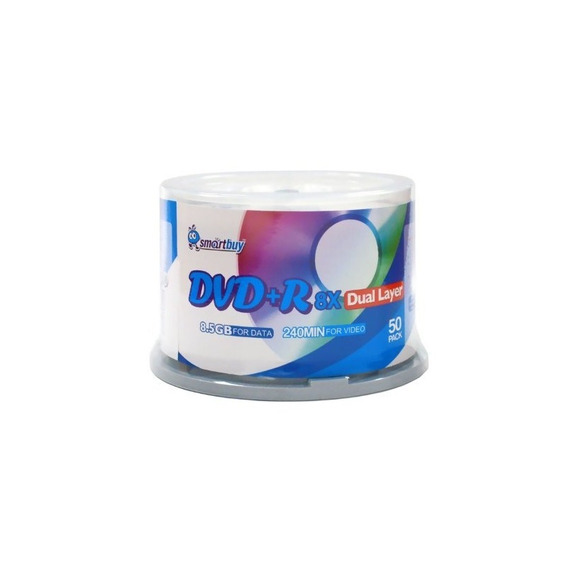 Smart Buy Logo Paquete De 100 Dvd Plus R Dvd R Dl 8.5gb 8x R