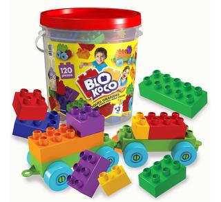 Blokoco Bloques Grandes Tipo Rasti Con 120 Piezas Original