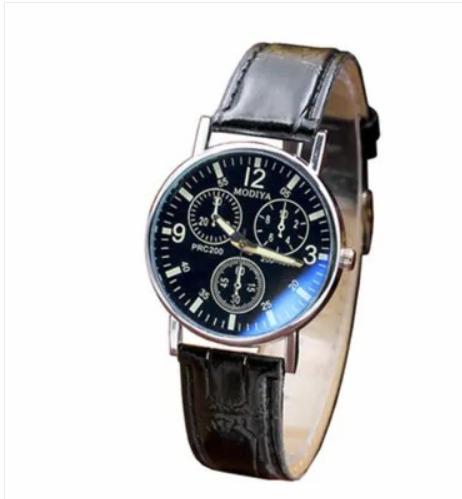 Relógio Masculino Luxury Pulseira De Couro
