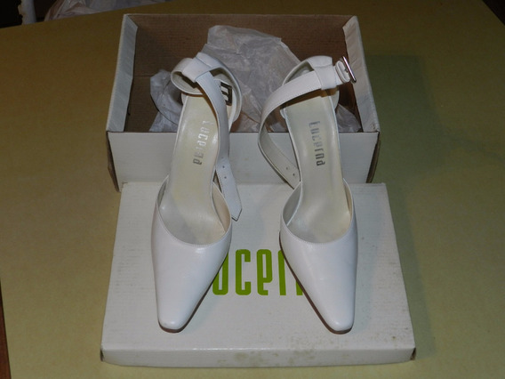 * Zapatos Mujer - Stiletto - Blancos - Talle 37 Excelentes!!