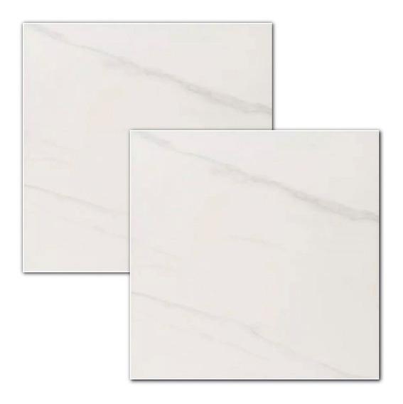 Porcelanato Rosetto Girona Bianco 60x60 Carrara Rectificado