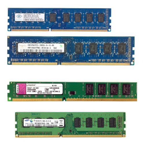 10 Memoria 2 Gb Ddr2 Pc2  800  Marcas Diversas