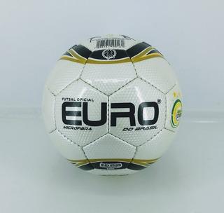 Bola De Futsal Oficial Euro Microfibra Preto/dourado 012