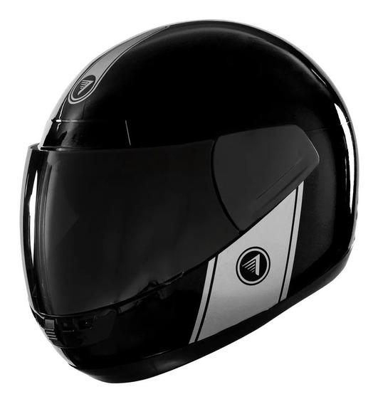 Casco para moto integral Vértigo Cosmic negro brillo talle S