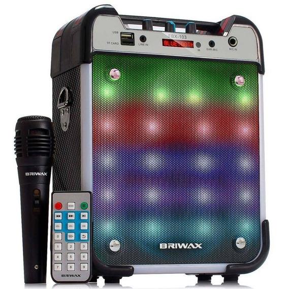 Caixa Som Amplificada Fbx-103 Mp3 Radio Fm Usb C/ Microfone