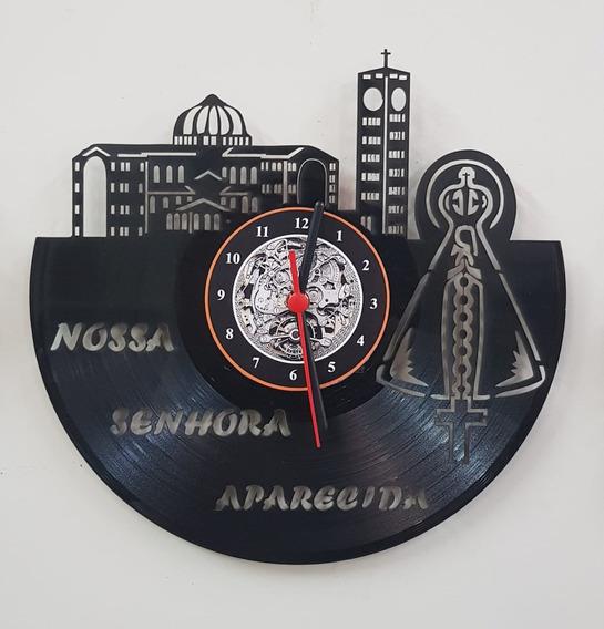 Nossa Senhora Aparecida, Católica,relógio De Disco De Vinil